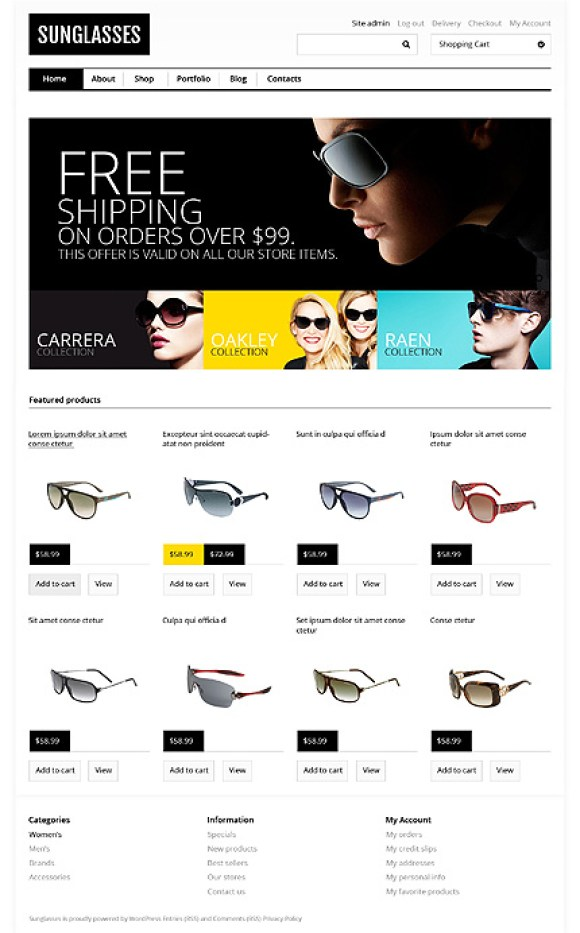 sunglasses-theme-wordpress-woocommerce-eboutique