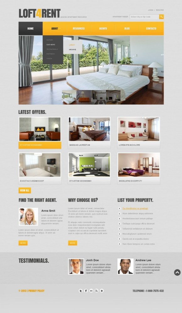 loft4rent-template-joomla-immobilier