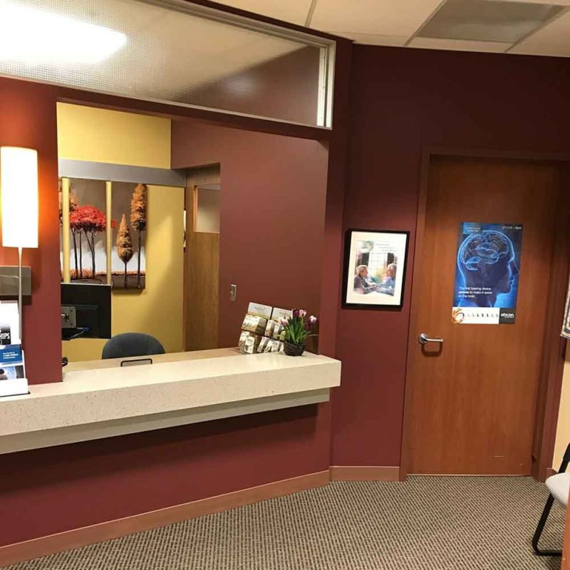 Front office of Beaver Dam Hearing Care