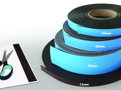 adhesive backed magnetic fixing tape