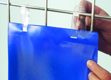 A4 or A5 Tie on Document pockets with arrow tags for use on mesh containers and cages