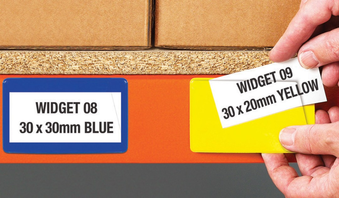 Ticket pouches on warehouse racking - one of our innovative products