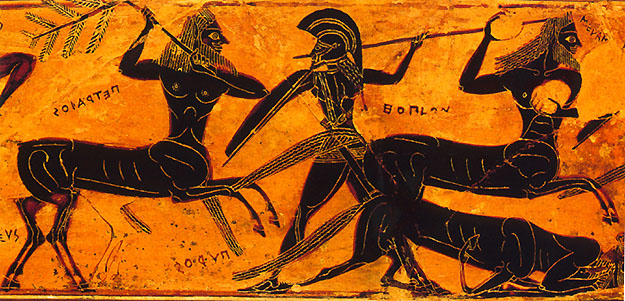 Image result for Centaurs Greek Vase