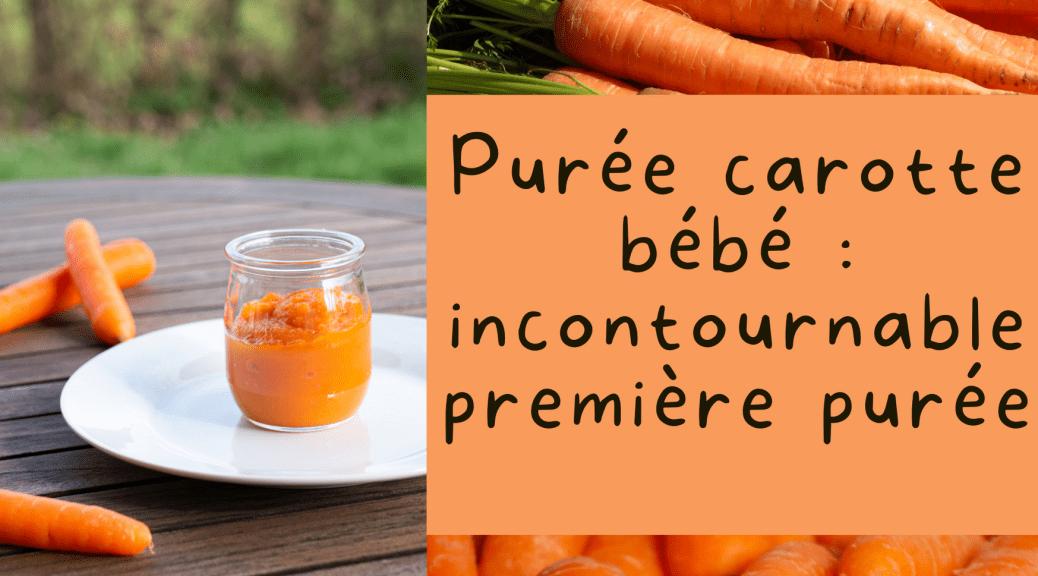 purée carotte bébé