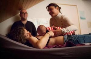 Haptonomie après la naissance