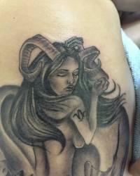 capricorn tattoo bebejaz horned mermaid ribcage nelson viscarra
