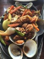 mixed seafood sizzling