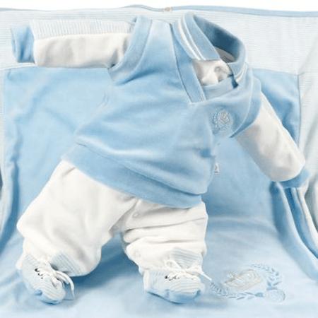 saídas de maternidade menino azul luxo foto10