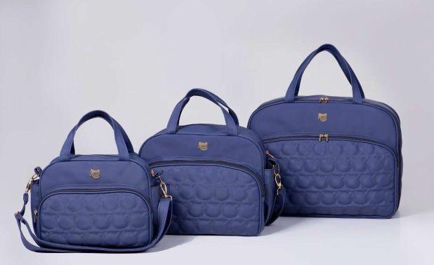bolsa de bebê para maternidade - azul marinho