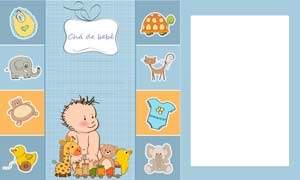 convite de chá de bebê menino modelo 2