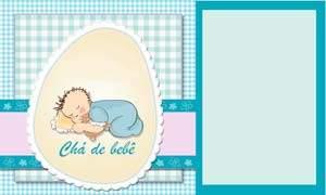 convite cha de bebe menino modelo 10