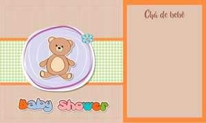 convite chá de bebê modelo 3