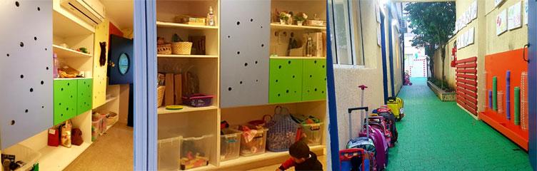 building escola estrutura acesso as salas e mobiliario