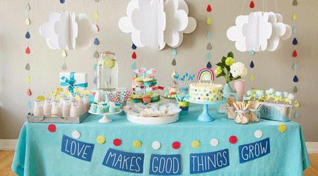 decoração chá de bebê simples foto 1