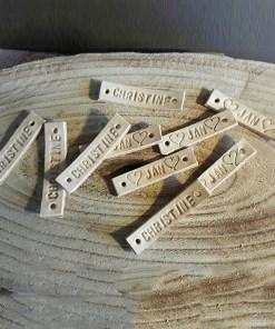 gepersonaliseerde babymuts naam-badges