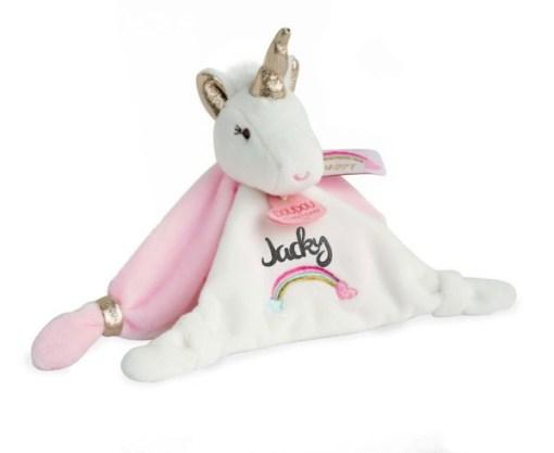 Knuffeldoekje unicorn met naam