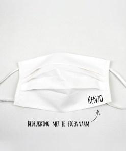 Handgemaakt mondkapje met naam
