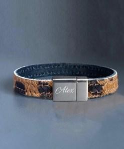 Gepersonaliseerde Leopard armband met naam