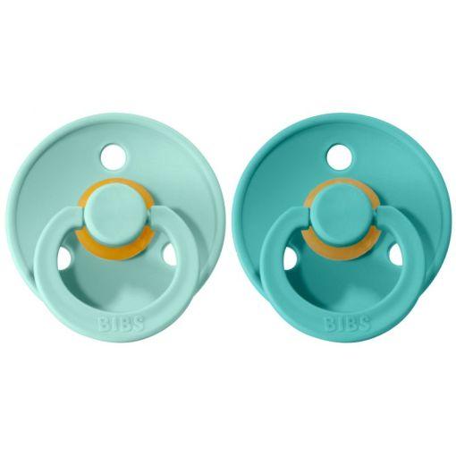 Bibs fopspeen met naam Mint/turquoise