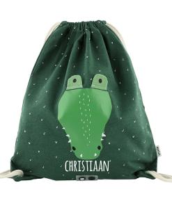 Gymtas krokodil met naam
