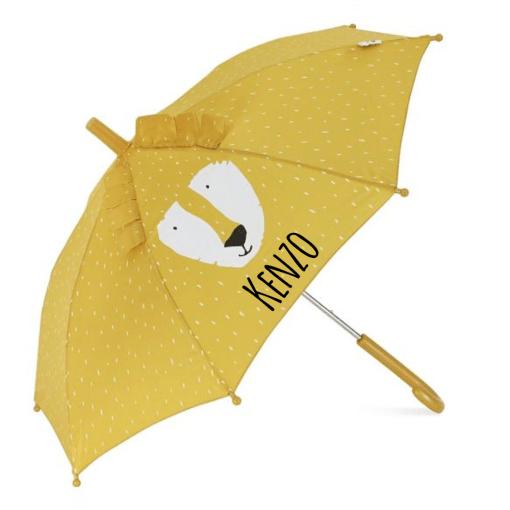 Kinder paraplu leeuw met naam