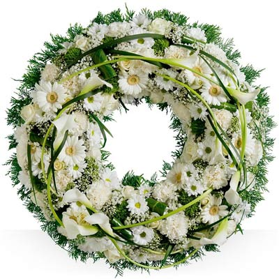 Deuil Couronne Blanche