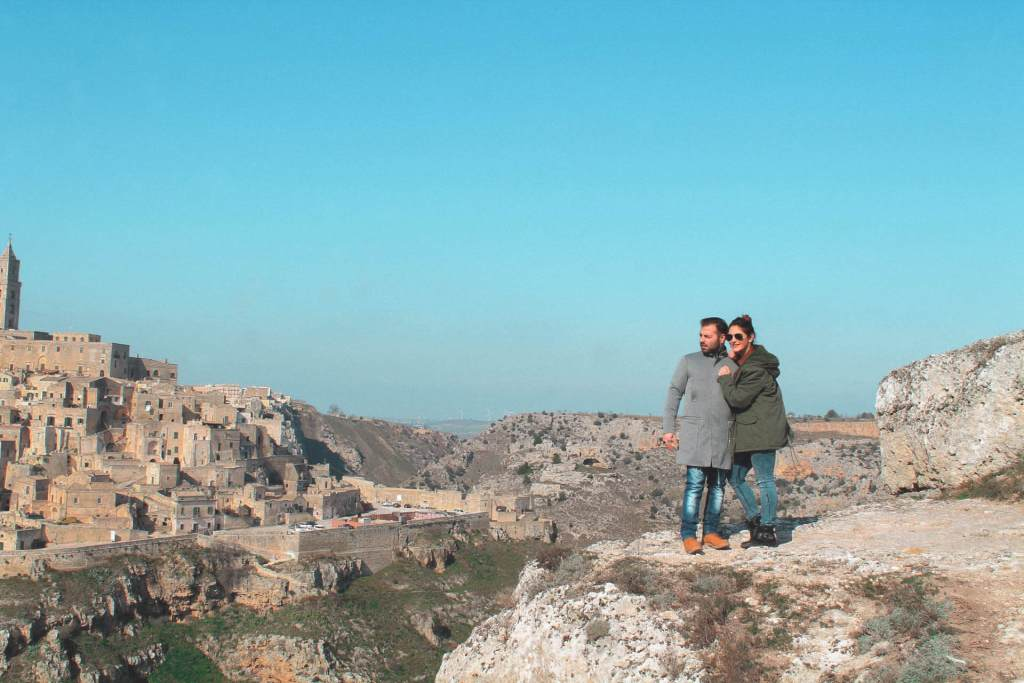 vista dal Parco archeologico storico-naturale delle Chiese rupestri del Materano