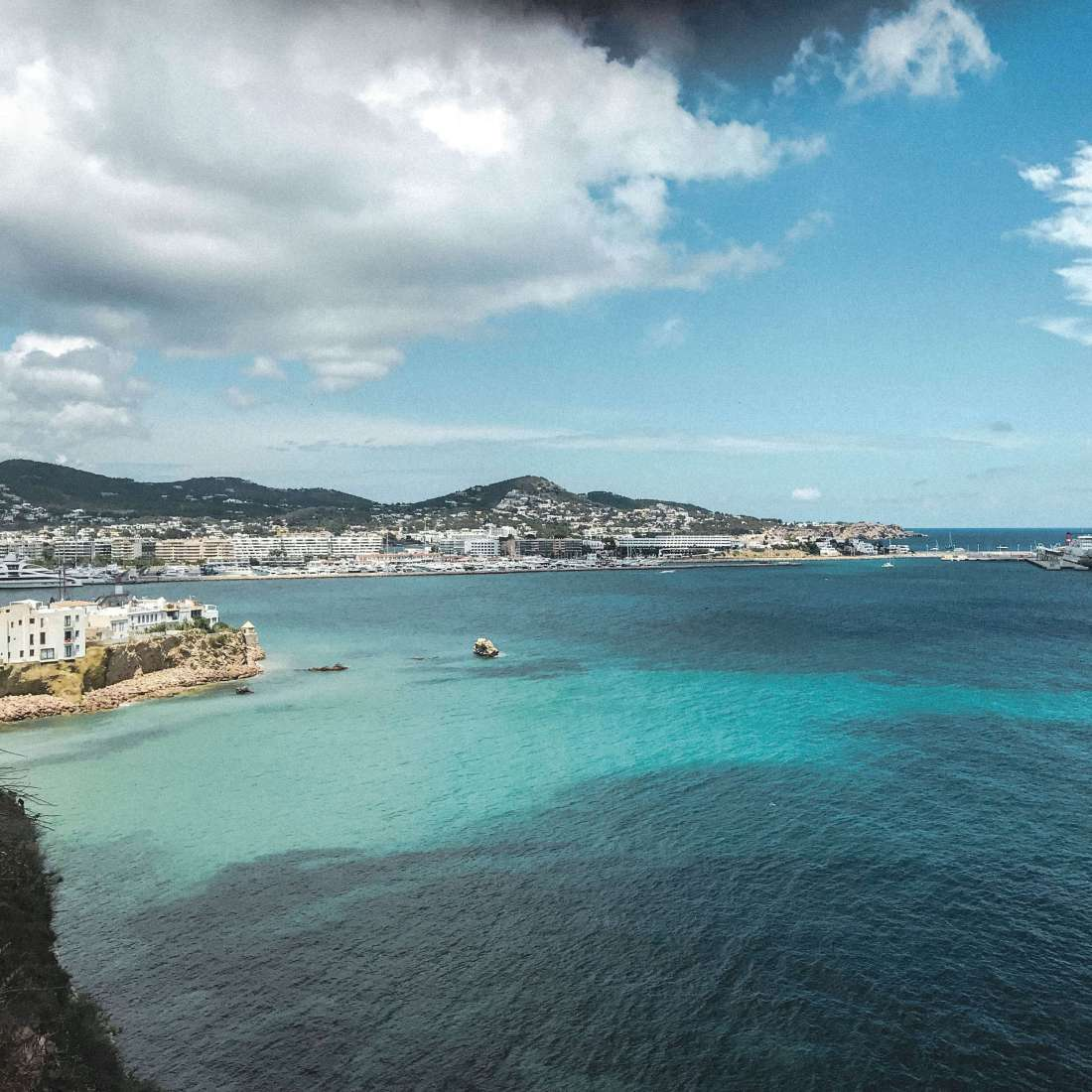 Ibiza center - view from the old town 2