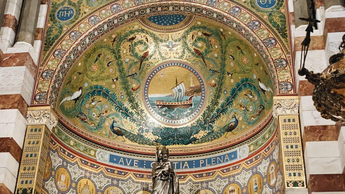 Marsiglia-Notre dame de La garde-mosaici