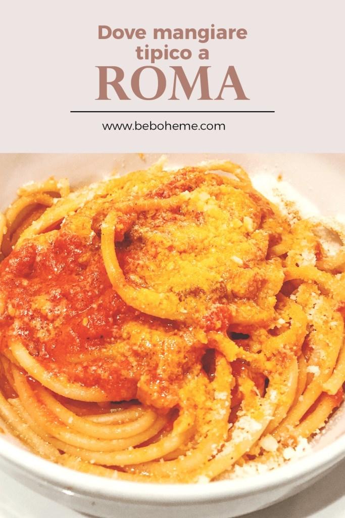 dove mangiare tipico a Roma