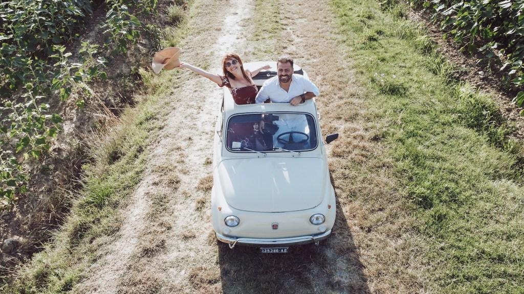 Picnic in toscana a bordo di una Fiat 500
