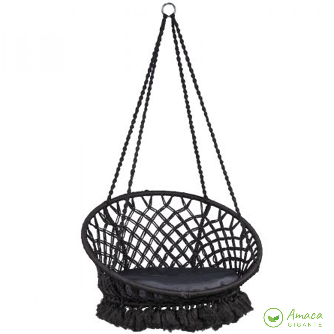 hanging armchair for interiors with bohemian style furniture