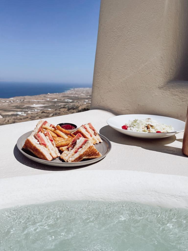Hotel in Santorini with pool in the room Dome santorini resort