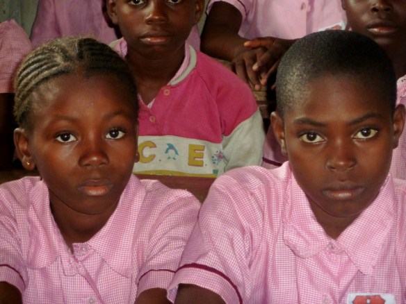 Ruth Moses and Sandra Loveday, primary 6 students in Bane, June 2012.