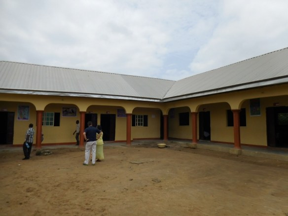 Our two school buildings in Bori, July 2015.