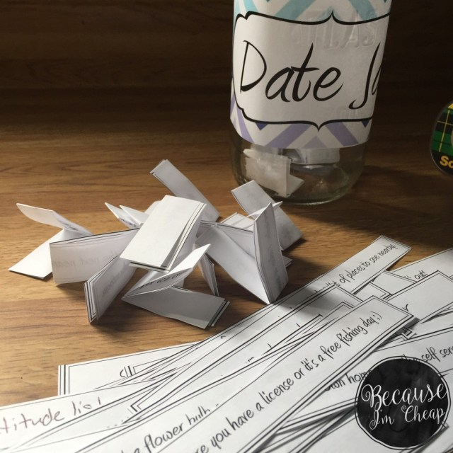 Free Frugal Date Jar Printable | BecauseImCheap.com