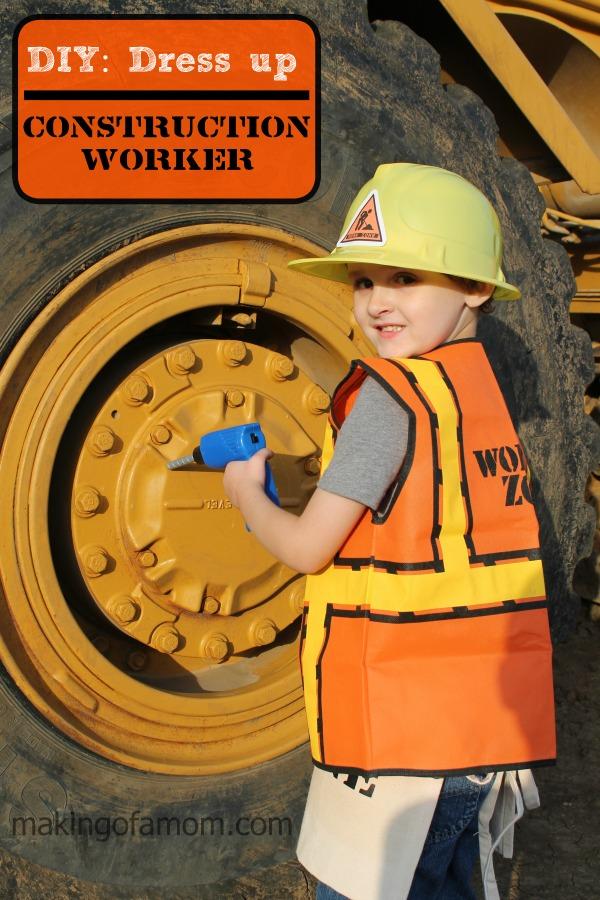 DIY Construction Worker Halloween Costume | BecauseImCheap.com