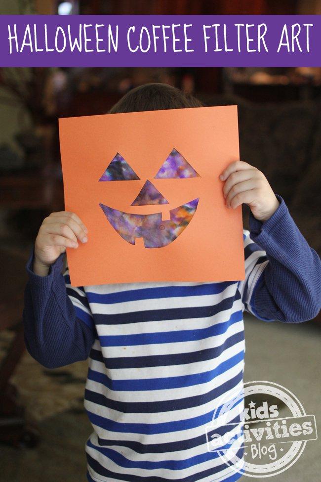 Jack O Lantern Coffee Filter Halloween Craft | BecauseImCheap.com