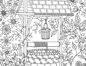 Secret Garden Adult Coloring Page