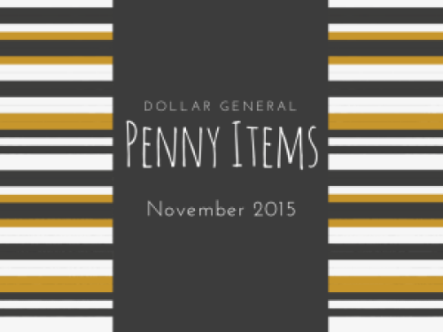 Dollar General Penny Items November