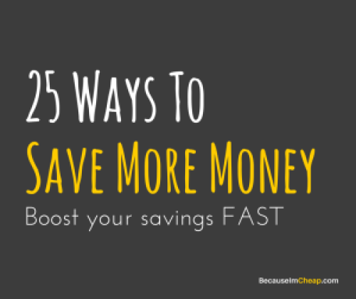 25 ways to save more money