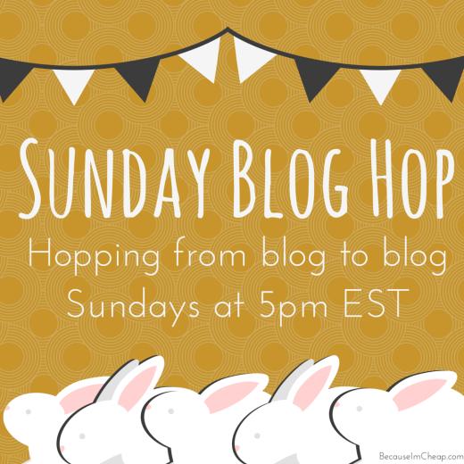 Sunday Blog Hop on Because I'm Cheap