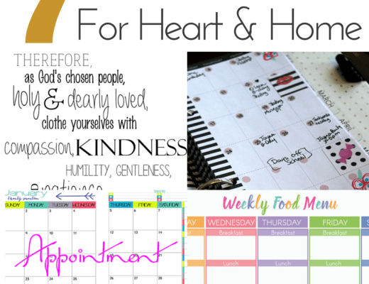 7 free printables for heart and home