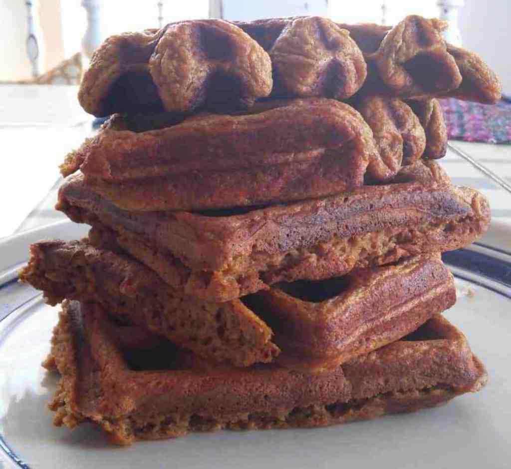 spiced pumpkin-gingerbread waffles #stonyfieldblogger #sponsored