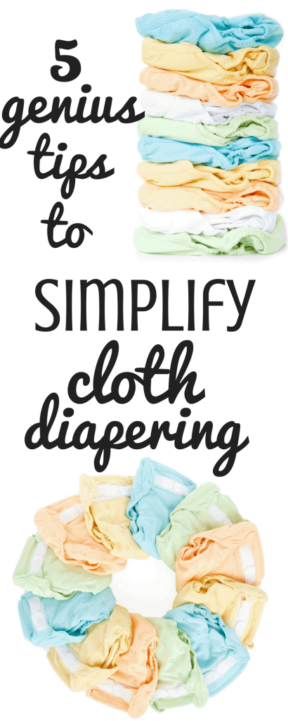 These 5 genius tips will help you simplify cloth diapering! If you're thinking about trying out cloth diapers or you're already a veteran, these tips will help save you time and money when using cloth diapers!