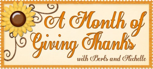 A Month of Giving Thanks