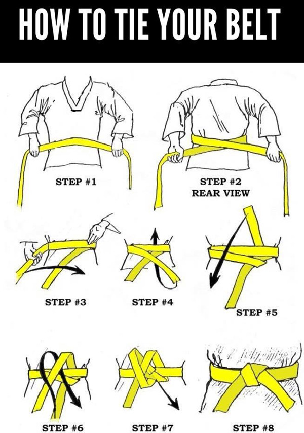 How to tie your Taekwondo belt