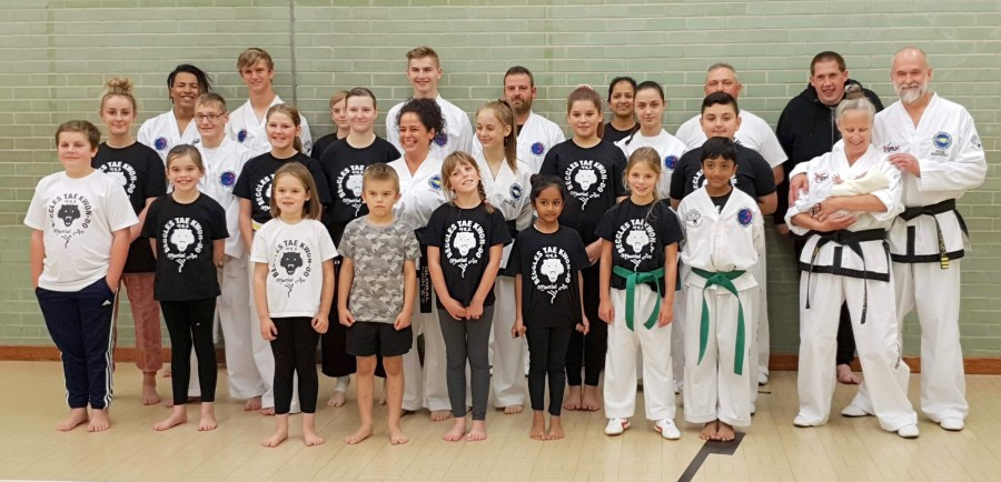 Mr and Mrs B with our Beccles Taekwondo Thursday night class