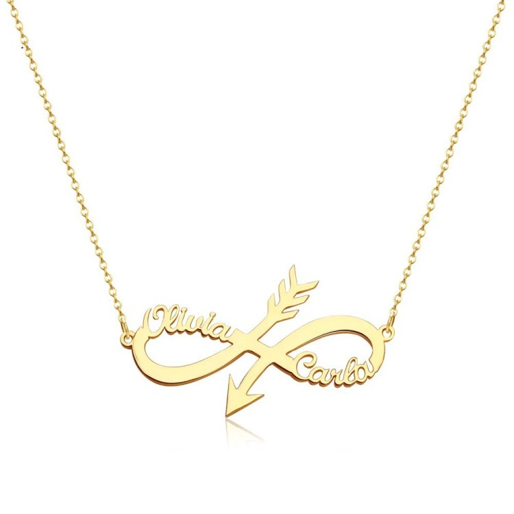 Two Names Stylish Custom Name Necklace For Women