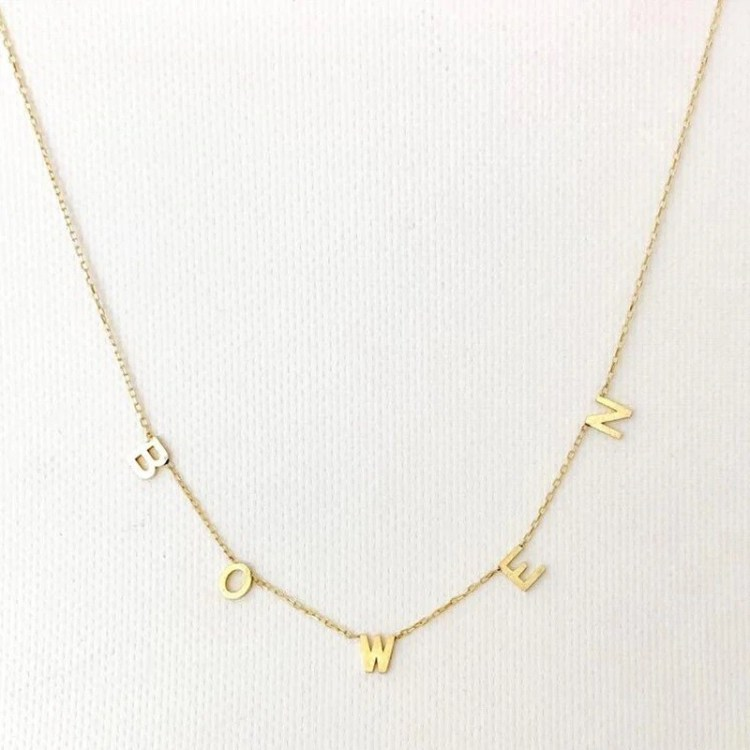 multiple letters name necklace